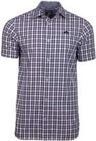 Men's Raging Bull Big And Tall Short Sleeve Linen Look Check Shirt