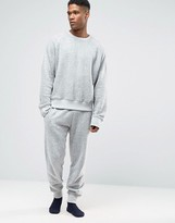 Asos Skinny Jogger In Brushed Textured Cotton