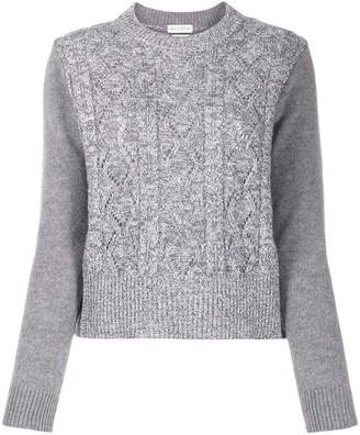 Ballantyne Metallic-Trim Chunky Knit Sweater