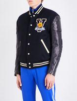 Junya Watanabe x VAN Jacket wool-blend and faux-leather bomber jacket