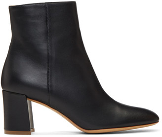 Mansur Gavriel Black Leather 65 Ankle Boots