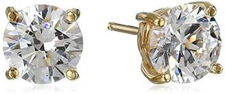 Swarovski La Lumiere Yellow Gold Plated Sterling Silver Made with Cubic Zirconia from 3cttw) Round Stud Earrings