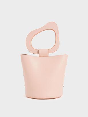 Charles & Keith Sculptural Handle Bucket Bag