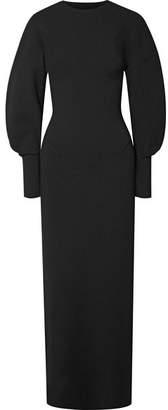 Esteban Cortazar Capri Open-back Knit Gown - Black