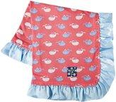 Kickee Pants Print Ruffle Lovey - Winter Rose Tiny Whale