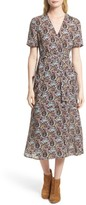 A.L.C. Women's Stephanie Print Silk Wrap Dress