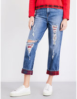 Tommy Hilfiger x Gigi Hadid destroyed straight cropped high-rise jeans