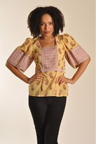Plenty by Tracy Reese Sqaure Neck Blouse in Gourd Kashmir