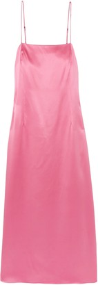 ADAM by Adam Lippes Silk-satin Midi Slip Dress