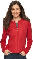 Croft & Barrow Women's Quilted Sweater Jacket