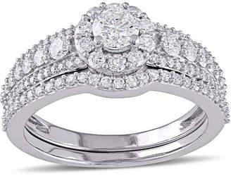 MODERN BRIDE 1 CT. T.W. Diamond 14K White Gold Ring Set