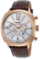 Ingersoll 2818RSL Men's Cooper Auto Limited Brown Leather Silver-Tone Dial
