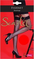 "Silky Womens/Ladies Scarlet Fishnet Plain Top Stockings (1 Pair) (Medium (5ft-5ft8""))"