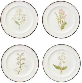 Tory Burch Lilac Flower Salad Plates, Set Of 4