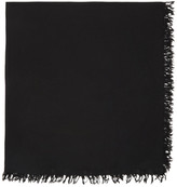 Attachment Black Wool Scarf