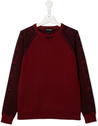 Emporio Armani Kids TEEN round neck knitted jumper