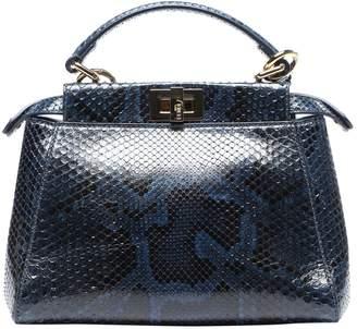 Fendi Peekaboo Navy Python Handbags