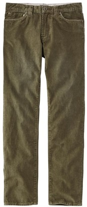 L.L. Bean Men's Signature Washed Corduroy Pants, Slim Straight
