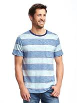 Old Navy Striped Slub-Knit Pocket Tee for Men