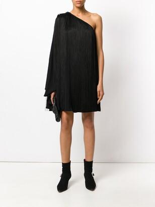 Saint Laurent single sleeve fringed dress