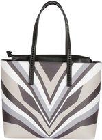 Elena Ghisellini Neutral Print miky Tiger Shopping Bag