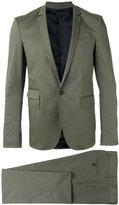 Les Hommes single breasted suit - men - Cotton/Spandex/Elastane - 48