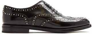 Church's Burwood Stud-embellished Leather Brogues - Black
