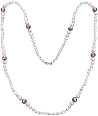 BELPEARL 14K 12-6Mm Freshwater Pearl Necklace