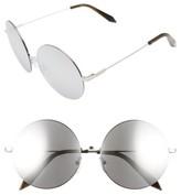 Victoria Beckham Women's Feather 58Mm Round Sunglasses - Platinum Mirror