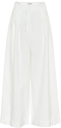 S Max Mara Grace linen-blend wide-leg pants