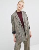 Monki Tailored Oversized Check Blazer
