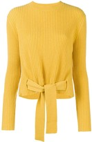 Cashmere In Love cashmere tie waist jumper