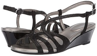 Bandolino Gyala Wedge Sandal (Black) Women's Shoes