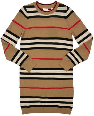 Burberry Striped Wool Knit Dress