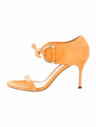 Gucci Suede Sandals Yellow
