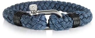 Forzieri Navy Blue Woven Rope Men's Bracelet