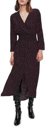 Maje Rosila Printed Midi Dress