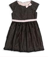 Kate Spade Girls 2-6x Eyelet Bow Dress