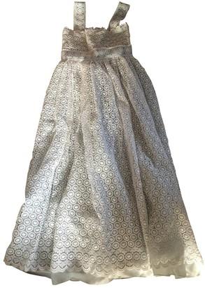 Reem Acra White Cotton Dress for Women