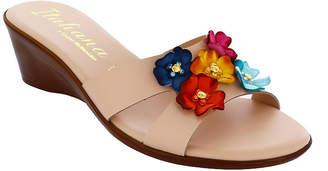 Italiana By Italian Shoemakers Womens Laney Wedge Sandals