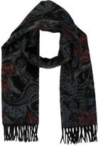 Loro Piana Abstract Print Cashmere Scarf