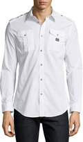 Diesel Stretch-Woven Cargo Shirt, White