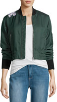 Elizabeth and James Ancel Long-Sleeve Quilted Moto Jacket, Green