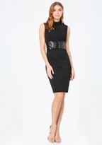 Bebe Jacquard Corset Dress