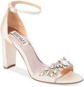 Badgley Mischka Barby Ankle-Strap Evening Sandals