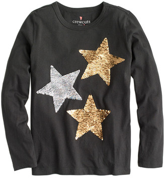J.Crew Crewcuts By Reversible Sequin Stars T-Shirt