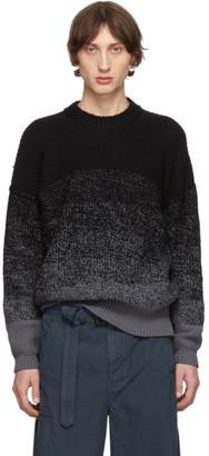 Issey Miyake Black Wool Low Gauge Gradation Sweater