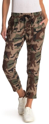 True Religion Camo High Waisted Rolled Ankle Crop Joggers