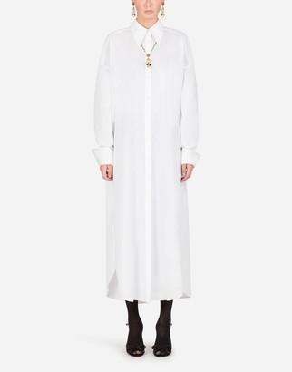 Dolce & Gabbana Cotton Poplin Tunic Shirt