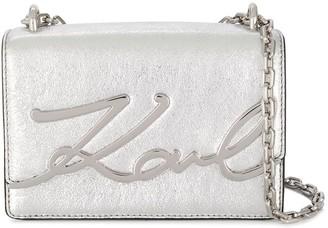 Karl Lagerfeld Paris Signature logo plaque crossbody bag